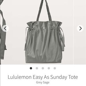 NWT Lululemon Easy as Sunday Tote-Grey Sage.